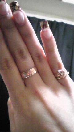 指輪、もらいました☆